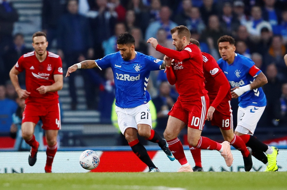 'Plays For The Badge' 'Definitely Keep' Rangers Fans On Twitter Debate Wide Man's Future After He Declares He's Desperate To Stay